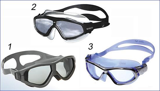 Очки-полумаска для плавания в бассейне
