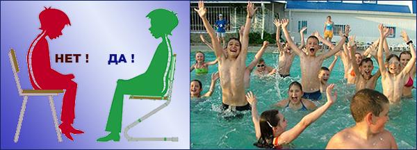 Плавание для коррекции нарушений осанки